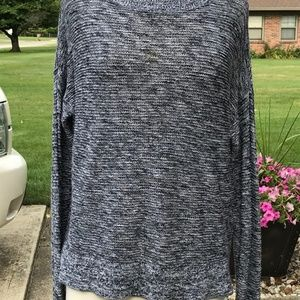 Loft Blue/White Knit Sweater (L)